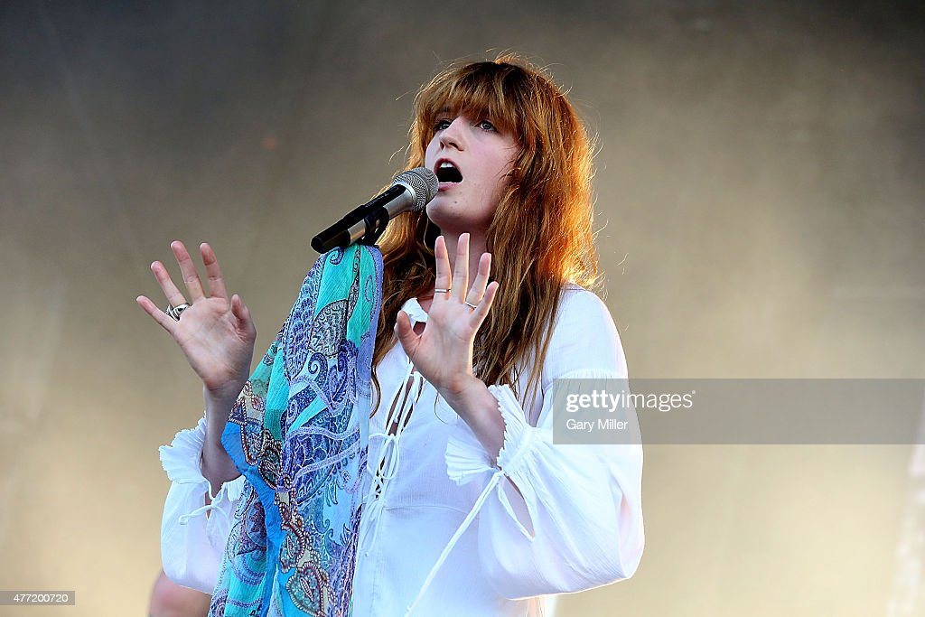 Florence Welch of Florence and the Machine performs in concert during day 4 of the Bonnaroo Music & Arts Festival on June 14, 2015 in Manchester, Tennessee.