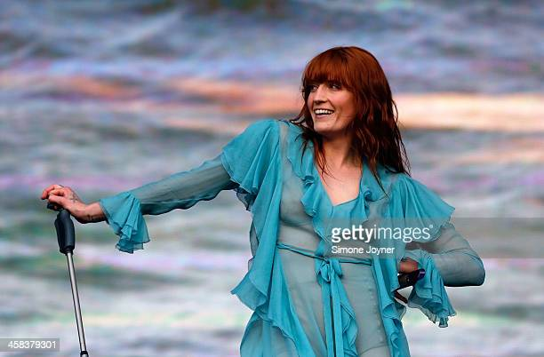 Florence Welch of Florence and the machine performs live on stage during day two at the Barclaycard Presents British Summer Time Festival in Hyde...
