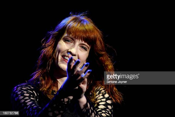 Florence Welch of Florence and the Machine performs live on the Main Stage on Day Two during the Reading Festival 2012 at Richfield Avenue on August...