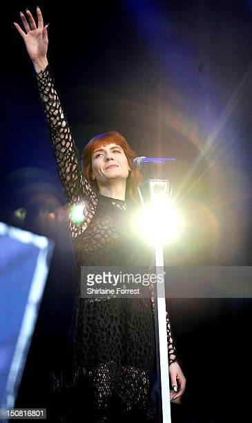 Florence Welch of Florence and the Machine performs on day three of Leeds Festival at Bramham Park on August 26 2012 in Leeds England