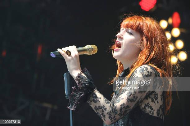 Florence Welch of Florence and the Machine performs on July 18 2010 in Bern Switzerland