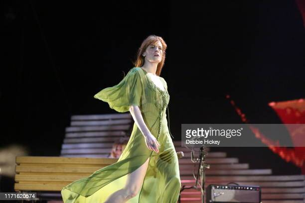 Florence Welch of Florence and The Machine performs on main stage during Electric Picnic Music Festival 2019 at Stradbally Hall Estate on September...