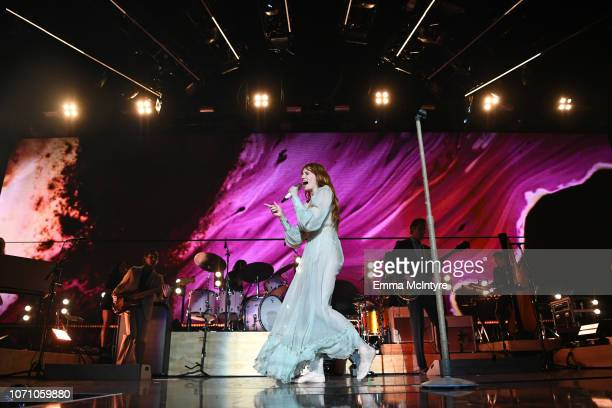 Florence Welch of Florence and the Machine performs on stage during KROQ Absolut Almost Acoustic Christmas at The Forum on December 9, 2018 in...