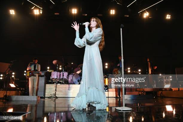 Florence Welch of Florence and the Machine performs on stage during KROQ Absolut Almost Acoustic Christmas at The Forum on December 9 2018 in...