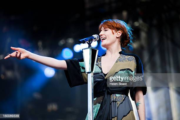 Florence Welch of Florence And The Machine performs on stage during Way Out West on August 9 2012 in Gothenburg Sweden