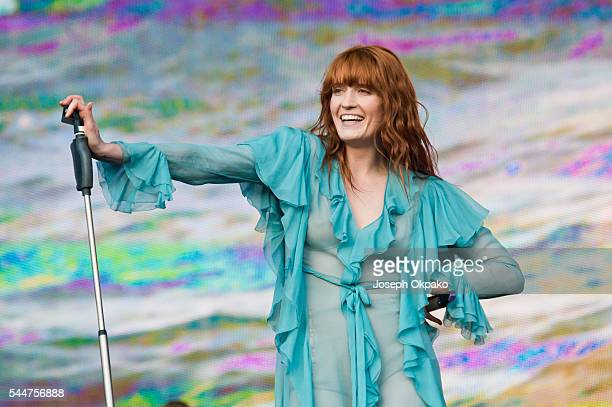 Florence Welch of Florence and the Machine performs on stage during day two of Barclaycard Presents British Summer Time Hyde Park on July 2 2016 in...