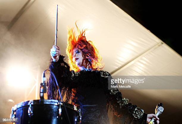 Florence Welch of Florence and the Machine performs on stage during the Adelaide leg of Laneway Festival at Fowler's Live on February 5, 2010 in...