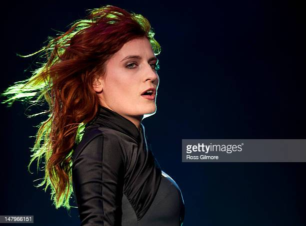 Florence Welch of Florence and the Machine performs on stage during T In The Park Festival at Balado on July 6, 2012 in Kinross, United Kingdom.