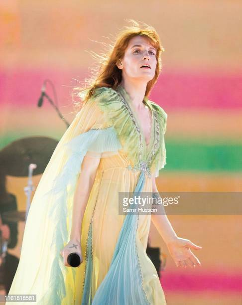 Florence Welch of Florence and the Machine perofrms during Barclaycard Presents British Summer Time Hyde Park at Hyde Park on July 13, 2019 in...