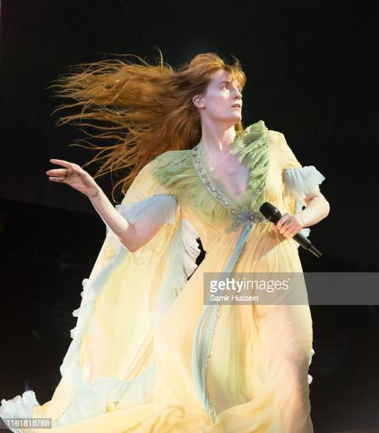 Florence Welch of Florence and the Machine perofrms during Barclaycard Presents British Summer Time Hyde Park at Hyde Park on July 13 2019 in London...