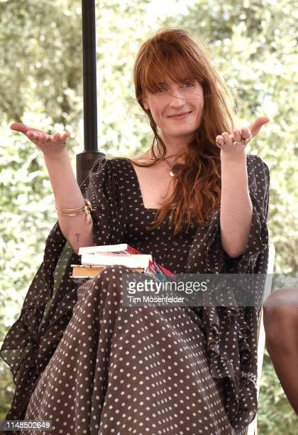 """Florence Welch of Florence + the Machine attends """"Between Two Books"""" discussion panel on May 11, 2019 in Arcosanti, Arizona."""