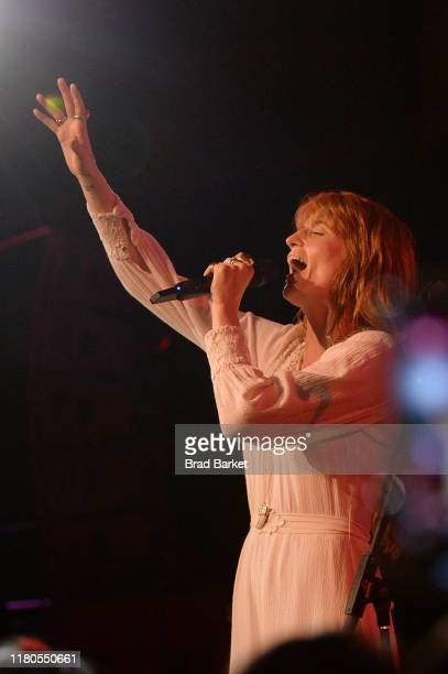 Florence Welch of Florence + the Machine perform on stage during the 2019 New Yorker Festival on October 11, 2019 in New York City.