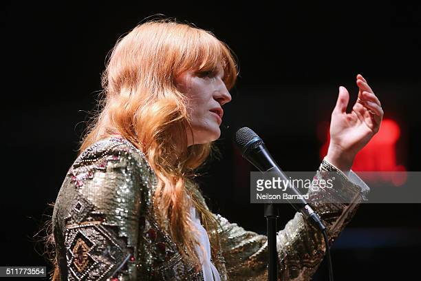 Florence Welch of Florence The Machine performs at Samsung 837 Launch with Florence The Machine at Samsung 837 in Meatpacking District on February 22...
