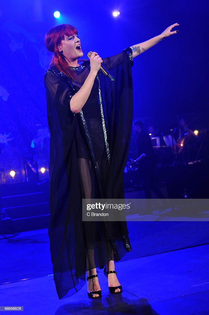 Florence Welch of Florence & The Machine performs at the Hammersmith Apollo on May 14, 2010 in London, England.