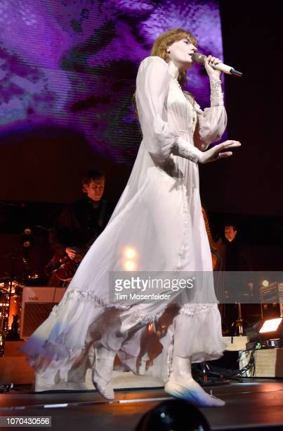 Florence Welch of Florence the Machine performs during ALT 1053's Not So Silent Night 2018 at SAP Center on December 8 2018 in San Jose California