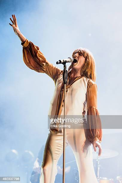 Florence Welch of Florence + The Machine performs during Austin City Limits Music Festival at Zilker Park on October 11, 2015 in Austin, Texas.