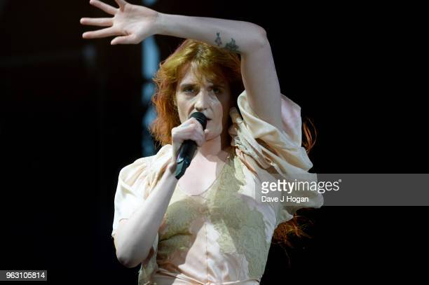 Florence Welch of Florence The Machine performs during day 2 of BBC Radio 1's Biggest Weekend 2018 held at Singleton Park on May 27 2018 in Swansea...