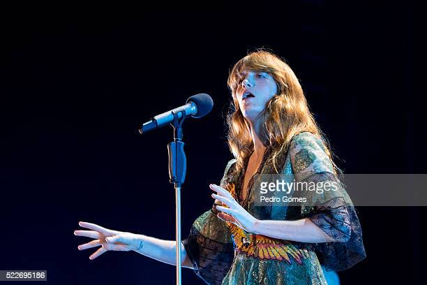 Florence Welch of Florence The Machine performs in concert on April 18 2016 in Lisbon Portugal