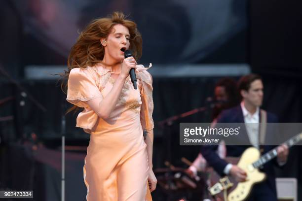 Florence Welch of Florence The Machine performs live on stage during Rolling Stones 'No Filter' tour at The London Stadium on May 25 2018 in London...