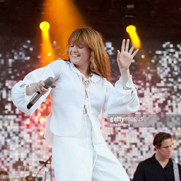 Florence Welch of Florence The Machine performs on day 4 of Bonnaroo Music Arts Festival on June 14 2015 in Manchester Tennessee