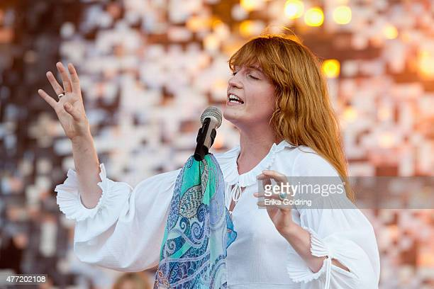 Florence Welch of Florence + The Machine performs on day 4 of Bonnaroo Music & Arts Festival on June 14, 2015 in Manchester, Tennessee.
