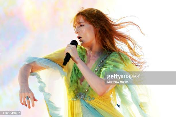 Florence Welch of Florence + the Machine performs on Day 5 of Barclaycard Presents British Summer Time Hyde Park at Hyde Park on July 13, 2019 in...