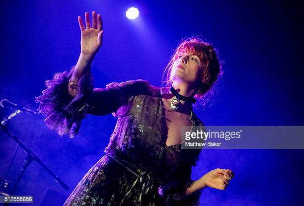 Florence Welch of Florence the Machine performs on stage at St JohnAtHackney in aid of War Child on February 26 2016 in London United Kingdom