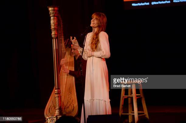 Florence Welch of Florence + the Machine performs on stage during the 2019 New Yorker Festival on October 11, 2019 in New York City.