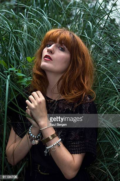 Florence Welch of Florence The Machine poses for a portrait session on August 5th 2009 in Amsterdam Netherlands