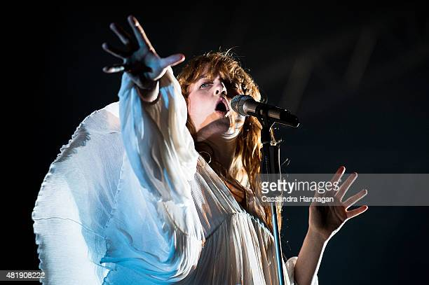 Florence Welch of the band Florence and the Machine perform for fans during Splendour in the Grass on July 25, 2015 in Byron Bay, Australia.