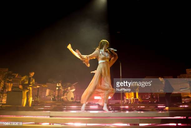 Florence Welch of the british indie rock band Florence And The Machine performs live on stage at The O2 Arena on November 21 2018 in London England
