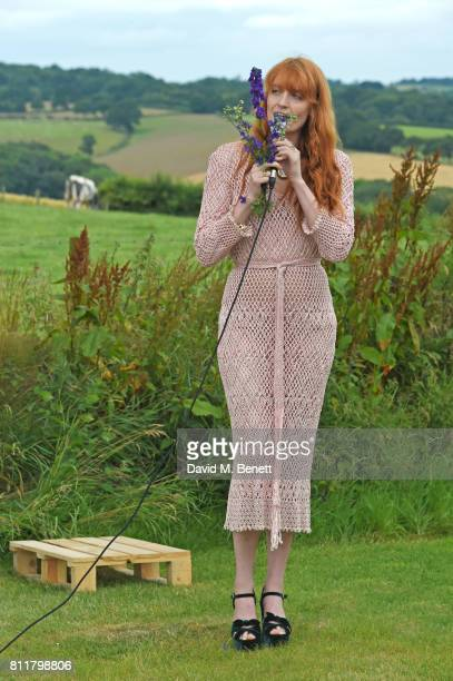 Florence Welch performs at Greta Bellamacina and Robert Montgomery's wedding on July 8 2017 in Exeter England