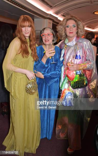Florence Welch Philippa Perry and Grayson Perry attend the 65th Evening Standard Theatre Awards in association with Michael Kors at the London...
