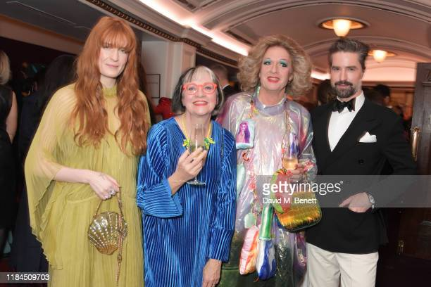 Florence Welch Philippa Perry Grayson Perry and Jack Guinness attend the 65th Evening Standard Theatre Awards in association with Michael Kors at the...