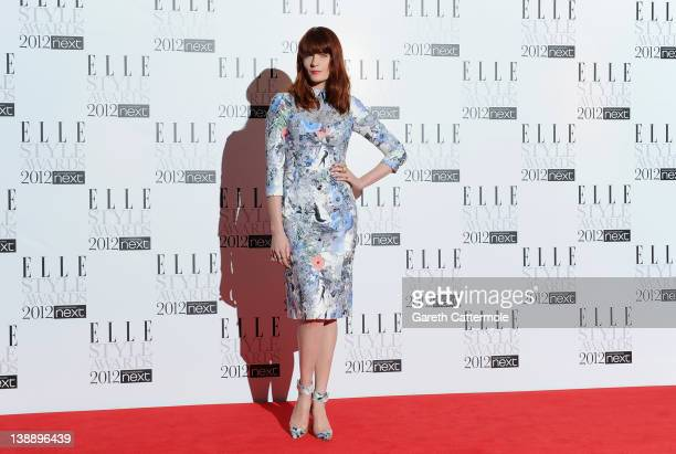 Florence Welcharrives for The Elle Style Awards 2012 at The Savoy Hotel on February 13, 2012 in London, England.