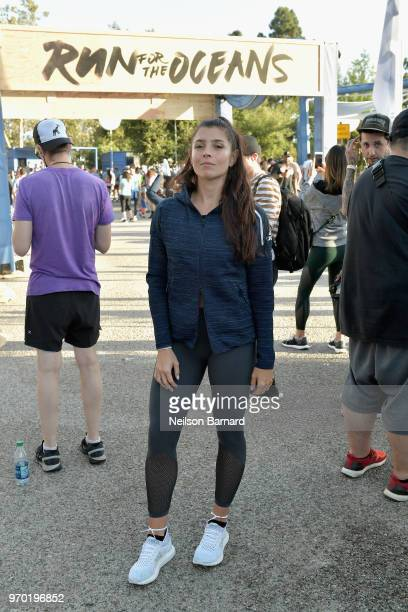 Florencia Galarza attends adidas x Parley 'Run For The Oceans' event harnessing the power of sport and continued fight against the threat of marine...