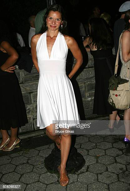 Florencia Lozano during Opening Night Afterparty for Macbeth at The Belvedere Castle in Central Park at The Belvedere Castle in Central Park in New...