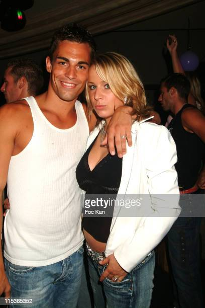 Florent and Morgane from Temptation Island during Real TV Shows Party at Papagayo Club in Saint Tropez France