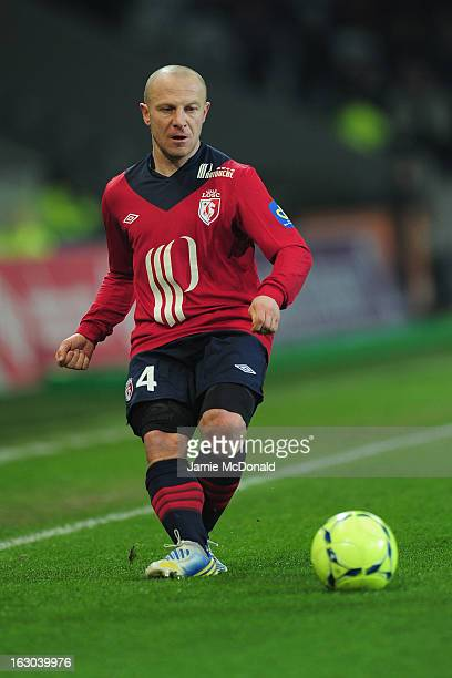 Florent Balmont of Lille in action during the Ligue 1 match between LOSC Lille Metropole v FC Girondins de Bordeaux at the Grand Stade LilleMetropole...