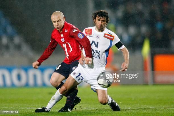 Florent BALMONT / Romain PITAU Lille / Montpellier 30e journee Ligue 1 Stadium Nord Villeneuve d'Ascq