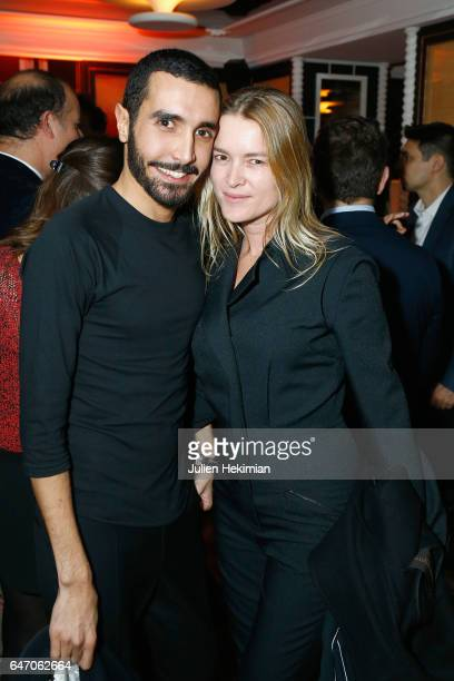 Florent Buonomano and a guest attend the Mastermind Magazine launch dinner as part of Paris Fashion Week Womenswear Fall/Winter 2017/2018 at Loulou...