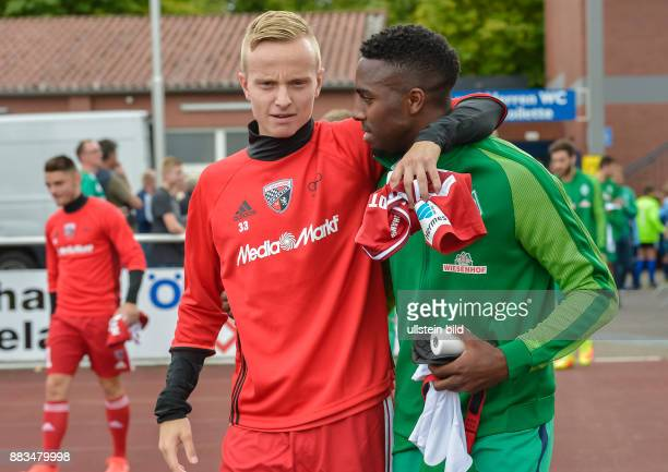 Florent Hadergjonaj im Gespraech mit Ulisses Garcia waehrend dem Testspiel fuer die Fussball Bundesliga Saison 2016/2017 FC Ingolstadt 04 gegen SV...
