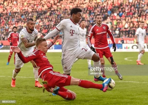 Florent Hadergjonaj im Zweikampf mit David Alaba waehrend dem Fussball Bundesliga Spiel FC Ingolstadt 04 gegen Bayern Muenchen am 20 Spieltag der...