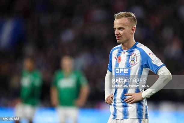 Florent Hadergjonaj of Huddersfield Town during the Premier League match between Huddersfield Town and West Bromwich Albion at John Smith's Stadium...