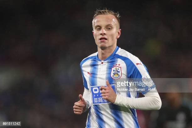 Florent Hadergjonaj of Huddersfield Town during the Premier League match between Huddersfield Town and Chelsea at John Smith's Stadium on December 12...