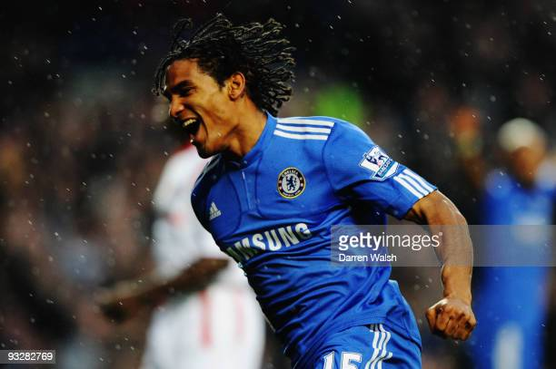 Florent Malouda of Chelsea celebrates his goal during the Barclays Premiership match between Chelsea and Wolverhampton Wanderers at Stamford Bridge...