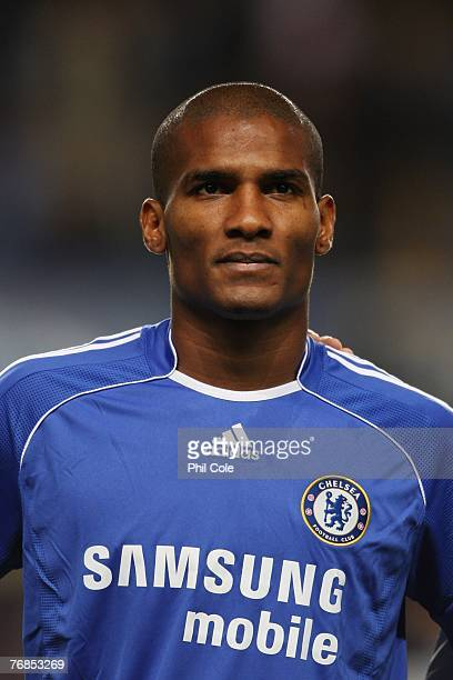 Florent Malouda of Chelsea looks on prior to the UEFA Champions League Group B match between Chelsea and Rosenborg at Stamford Bridge on September 18...