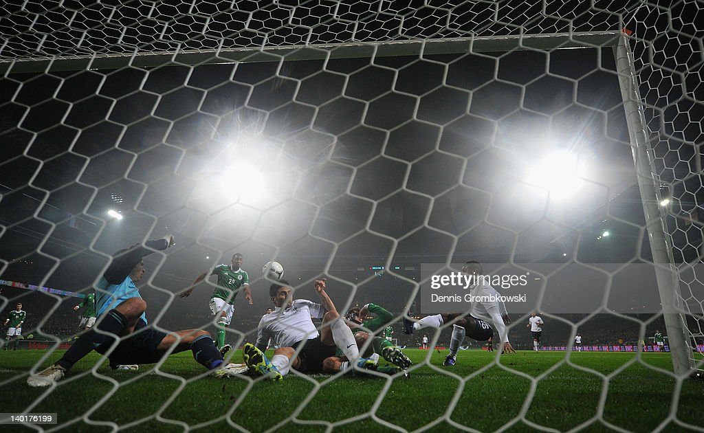 Florent Malouda of France scores his team's second goal during the International friendly match between Germany and France at Weser Stadium on February 29, 2012 in Bremen, Germany.