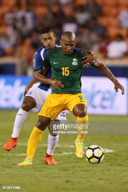 Florent Malouda of French Guiana in action during the 2017 CONCACAF Gold Cup Group A match between Honduras and French Guiana at BBVA Compass Stadium...