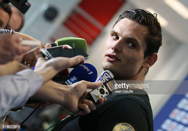 Florent Manaudou of France wins the men's 50m freestyle final qualifying him for the Olympic Games in Rio during day 6 of the French National...
